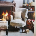 Capucine chair styled by Anna Malhomme de la Roche in november 2014 Homes and Antiques.