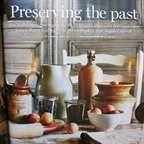 Stoneware bottles and jars. Homes and Antiques november 2014 by Anna Malhomme de la Roche