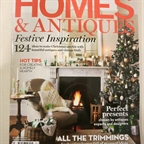 French vintage Tub chair styled in Homes&Antiques by Anna Malhomme de La Roche. Christmas issue.