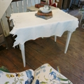 Painted french Directoire writing table, leather skin