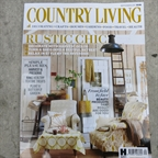 Country Living magazine september 2015. 2 Percy chairs connected by colours and styled by Alaina Binks. Very rustic chic