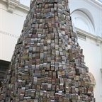 Barford'sTower of Babel at the V&A. A reflexion on London's frantic consumerism but also on its creativity and uniqueness