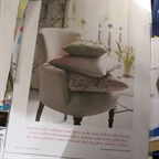 Our Capucine chair in calico styled by Sally Denning in Period Living march 2014.