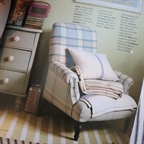 Vintage french chair from a selection featured by Laura Vine in Country Living April 2014.