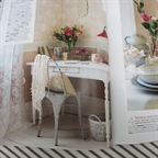Artist table in Country Homes and Interiors by Anna Malhomme de la Roche July 2014