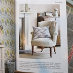 Period Living September 2014. Capucine chair in calico styled by Charlotte Boyd