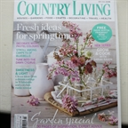 Country Living May 2013 set school milk bottles