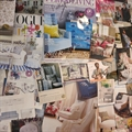 Our mood board with pictures of chairs and sofas